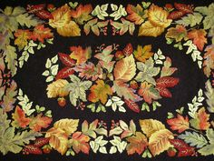 OMG, gorgeous. By Sharlene Washington. The rug pattern is called 'November' and it was designed by Jane McGown Flynn.