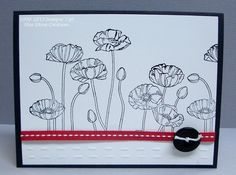 Black, White and Red Pleasant Poppies