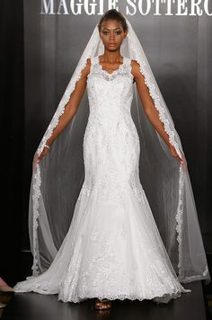A #wedding veil from Maggie Sottero Fall 2012 runway show. See more bridal fashion & beauty: http://ccwed.me/KIp6ZC