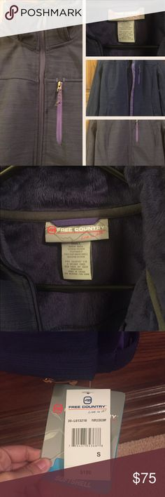 New Free country Jacket New with tag. Color purple. Very soft in the inside. Hood detaches. Free Country Jackets & Coats