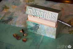 DIY and Crafts.  Save Memories in Seconds! Turn a recipe box into a memory box! Track those special moments in this simple DIY box!
