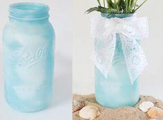 Faux Sea Glass Mason Jar Crafts   AllFreeDIYWeddings.com