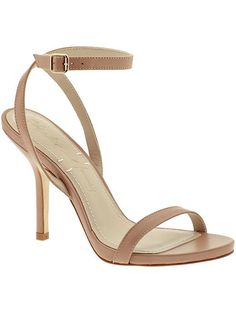 Simple nude strappy heels.  Almost my favorite for a few minutes. I little kisses on your ankles Babycakes. Forever.