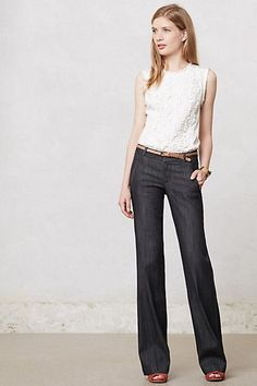 Wide leg jeans. Can short gals wear this?