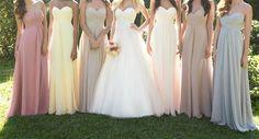 elegante lange abendkleider für Hochzeitgäste oder brautjungfer