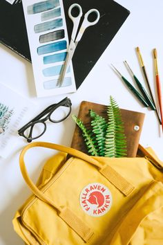 Kanken Backpack. I especially <3 the yellow