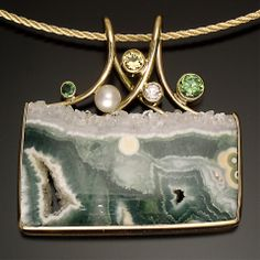 Jewelry artisan Cheryl Brooks creates the most stunning pieces using unique stones and previous gems.