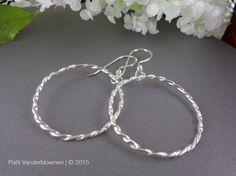 Sterling Silver Hoop Earrings  Twisted by PattiVanderbloemen