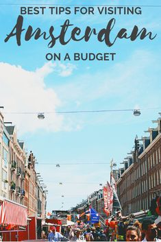 Amsterdam Travel on a Budget: The best money-saving tips for travelling to Amsterdam on a budget. From where to stay in Amsterdam on a budget to the best things to do in Amsterdam that are free or cheap, this post will help you plan a cheap Amsterdam trip Amsterdam Travel Guide, Europe Travel Tips, Travel Advice, European Travel, Budget Travel, Travel Destinations, Travel Packing, Europe On A Budget, Travel Money