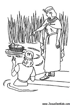 Baby Moses coloring page Tapestry of Grace Year 1 Pinterest