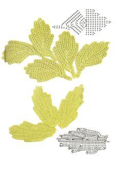 crochet leaves 2