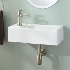 Genus Wall-Mount Sink - Left Corner Counter