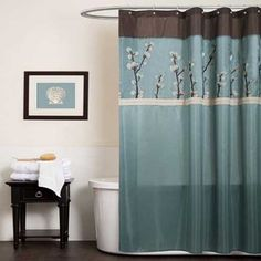 Gallery For Website home fashions decorative lush decor cocoa flower shower curtain cornice and bathroom ideas small