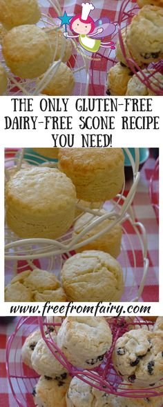 Make any occasion a hit with lactose freindly dairy free desserts The only gluten-free and dairy-free scone recipe you will ever need! Results every time and even a video to show you how to make them! Dairy Free Scones, Dairy Free Diet, Wheat Free Recipes, Dairy Free Recipes, Gluten Free Dairy Free Bread Recipe, Healthy Recipes, Cooking Recipes, Vegan Gluten Free, Healthy Meals