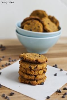 Grain-Free Pumpkin Chocolate Chip Cookies from Purely Twins