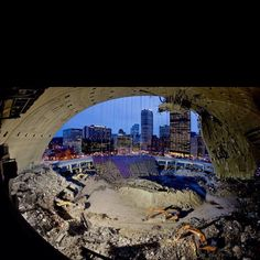 A Rare Shot Of Pittsburgh S Civic Arena With The Roof Partially Open Pittsburgh Pens