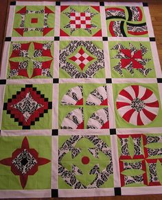 """Sew Kind Of Wonderful: """"Curve it up"""" Quilts!!  This one uses only 3 fabrics for all blocks."""