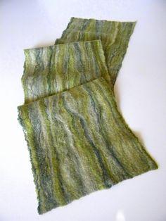 Fieltro lana bufanda fieltro bufandas hechas a mano de por Allatai