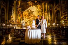 Wedding cake at Painted Hall, Old Royal Naval College - a superb venue in London