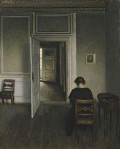 Les portes ouvertes by Vilhelm Hammershoi