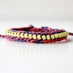 Neon Bracelet Crocheted Jewelry Beaded Bracelet by itsmemary, $17.00