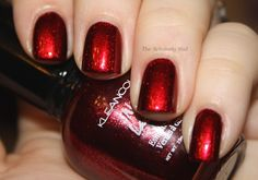 The Scholarly Nail: Kleancolor Metallic Red & Red Velvet