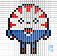 Peppermint Butler Adventure Time perler pattern - Patrones Beads / Plantillas para Hama... Could be used for Rainbow Loom