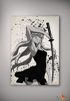 Mirai Nikki Yuno Gasai Amano Watercolor Print  Archival Print Print  Wall Decor Art Poster Anime Print  Manga Cartoon  Geek Multi Size n513 on Etsy, 31,25zł