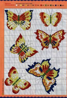 Butterflies Cross Stitch Chart