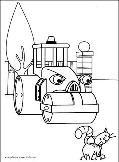 Bob the Builder color page, cartoon characters coloring pages, color plate, coloring sheet,printable coloring picture