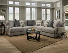 Sectional Barton Gray By Franklin 3 Piece Sofa
