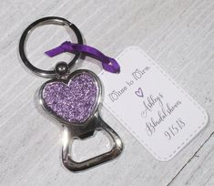 Glitter Heart Bottle Opener Key chain - Bridal Shower Favor - Set of 10 - Bachelorette Party - Key Ring - Wedding favors - Keychain