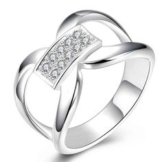 Phelorna Sterling Silver Plated Rings Cubic Zirconia
