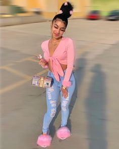 Baddie Outfits Casual, Boujee Outfits, Swag Outfits For Girls, Cute Swag Outfits, Teenage Girl Outfits, Teen Fashion Outfits, Dope Outfits, Girly Outfits, Look Fashion