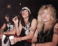 Steven Tyler with Guns N Roses' Steven Adler & Slash Guns N Roses, Rock And Roll Bands, Rock Bands, Rock N Roll, Glam Rock, Rock Music, My Music, Steven Tyler Aerosmith, Duff Mckagan