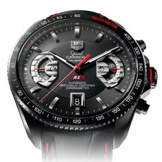 Tag Heuer GRAND CARRERA Calibre 17 RS2Automatic Chronograph43 mm Black Leather bracelet