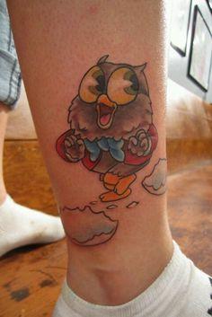 This Owl Jolson tattoo is so cute