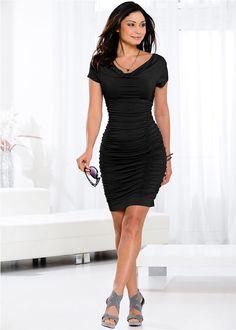 530cf4973b Sukienka z drapowaniem • czarny • bonprix sklep Formal Dresses For Women