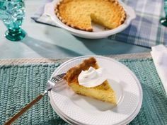Get Old-Fashioned Lemon Buttermilk Pie Recipe from Food Network Pie Dessert, Dessert Drinks, Fun Desserts, Dessert Recipes, Lemon Desserts, Food Network Recipes, Food Processor Recipes, Brown Recipe, Buttermilk Pie