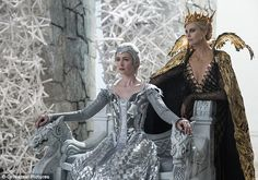 Sisters: Charlize Theron and Emily Blunt play evil queen sisters in the upcoming prequel t...