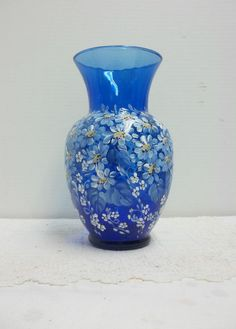 Blue Crackle Gl, Blue Gl Vase, Hand Painted, Scandinavian ... on mask with daisies, cat with daisies, house with daisies, ring with daisies, vase of white daisies, plates with daisies, glasses with daisies, christmas with daisies, teapot with daisies, pottery with daisies, flowers with daisies, pitcher with daisies, car with daisies, purse with daisies, butterfly with daisies, jar with daisies, bedroom with daisies, cup with daisies, heart with daisies, wreath with daisies,