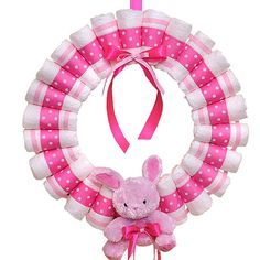diaper wreath / baby shower / gift idea / craft