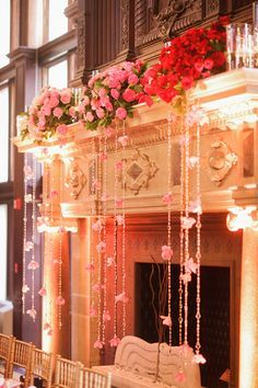 mantle decorations for wedding | ombre wedding goodness event design http://www.eventjubilee.com floral ...