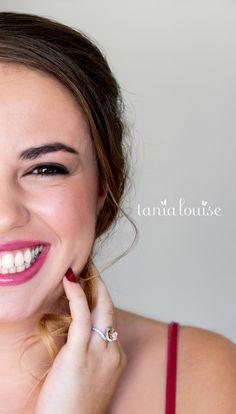 Organic Makeup Artist | Tania Louise Engagement Photo shoot. Berry Lipstick