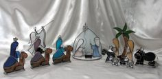 Nativity Manger SceneCresh in Stained by SerendipityGlassWrks  My shop is offering 10% savings for the Holidays!