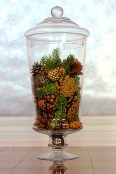 vase filler ideas   DIY Decor: 6 Holiday Vase Fillers
