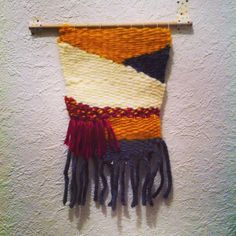 Number 1 - Ocre Earth #weaving #wallhanging #design textile