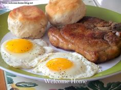 Remember those pork chops from yesterday? One of my favorite all time breakfasts is Pork chops and eggs. So many peop...