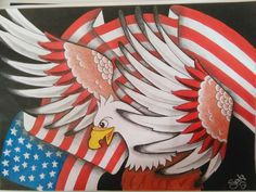 Drawing tattoo sketc love america