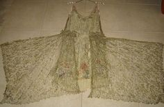1920's Beaded and Gold Thread Dress   Man do I hate overwrought ebay descriptions